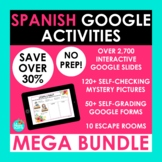Spanish Google Activities MEGA BUNDLE | Google Slides Goog