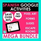 Spanish Google Activities MEGA BUNDLE   Google Slides Goog