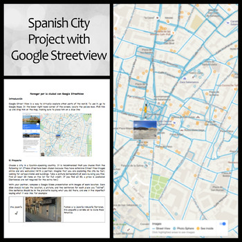 Spanish Google Street View Project for City Vocabulary