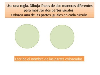 Spanish First Grade  Chapter 12 Math Performance task