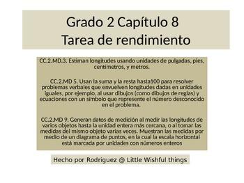 Spanish 2ndGrade   Chapter 8 Math Performance Task