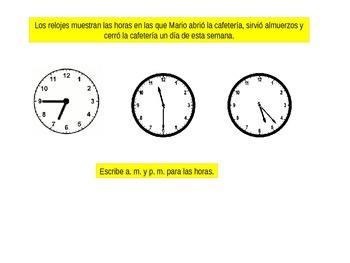 Spanish 3rd Grade Chapter 10  Math Performance Task
