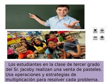 Spanish 3rdGrade  Chapter 4  Math Performance Task