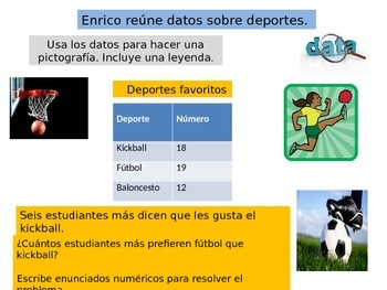 Spanish 3rdGrade   Chapter 2 Math  Performance task