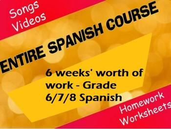 Spanish - Grade 6/7/8 - Me and My Family - Whole Unit - 7 weeks of work