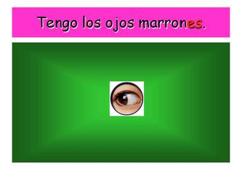 Spanish Teaching Resources. PowerPoint Presenting Eye Colours