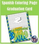 Spanish Graduation Card - End of year Adult Coloring Page