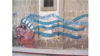 Spanish Graffiti PowerPoint and Lesson