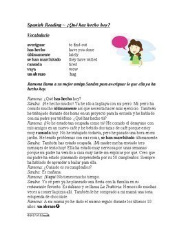 Spanish Perfect Tenses Bundle: Compuesto Perfecto: 3 Worksheets & 3 Readings!