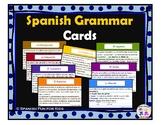 Spanish Grammar Cards