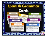 Spanish Grammar Cards