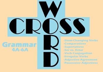 Spanish Grammar Crossword Puzzle