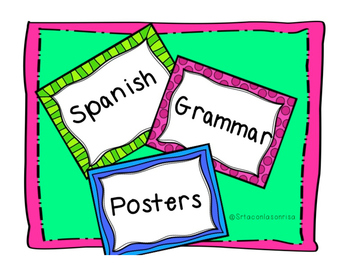 Spanish Grammar Posters/Study Guides