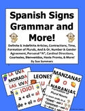 Spanish Grammar Bulletin Board 31 Signs - Articles, Nouns, Gender, and More!