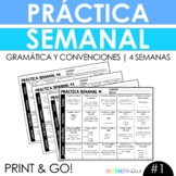 Weekly Spanish Grammar Practice for 4 Weeks with 80 Practice Activities! #1