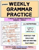 Spanish STAAR Grammar Practice for Ten (10) Weeks with 150 Editing Activities!