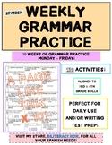 Spanish STAAR Grammar Practice for Ten (10) Weeks with 150 Editing Activities!
