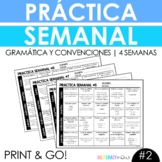 NEW Weekly Spanish Grammar Practice for 4 Weeks with 80 Grammar Activities #2!