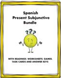 Spanish Subjunctive Bundle - El Subjuntivo (3 Readings, 10 Worksheets & 1 Game!)