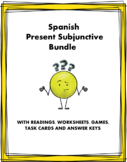 Spanish Present Subjunctive Bundle - Subjuntivo - 3 Readin