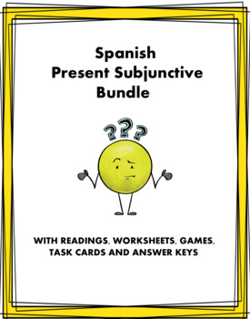 Spanish Subjunctive Bundle - Presente de Subjuntivo - 15 Resources at 40% OFF!