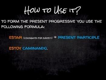 Spanish Grammar Presentation: Conjugating the Present Progressive