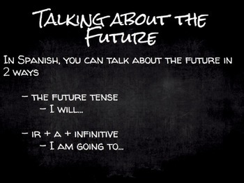 Spanish Grammar Presentation: Ir+a+Infinitive