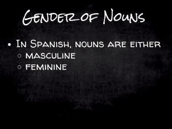 Spanish Grammar Presentation: Noun Gender