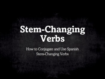 Spanish Grammar Presentation: Stem-Changing Verbs