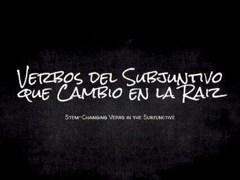 Spanish Grammar Presentation: Stem-Changing in Subjunctive Mood