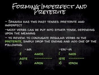 Spanish Grammar Presentation: The Imperfect vs. The Preterite