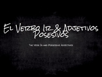 Spanish Grammar Presentation: The Verb Ir and Possessive A