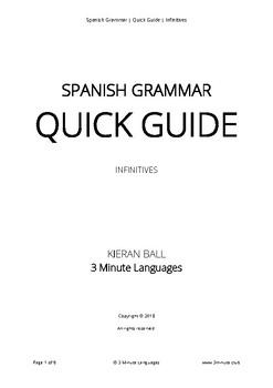 Spanish Grammar - Quick Guide - Infinitives