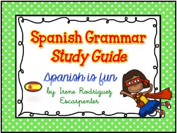 Spanish Grammar Study Guide