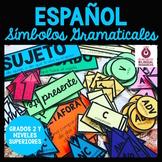 Spanish Grammar Symbols for Mentor Sentences