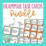 Spanish Grammar Task Cards Bundle | Spanish Review Activity
