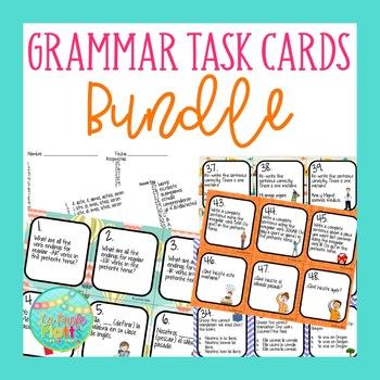 Spanish Grammar Task Cards Bundle