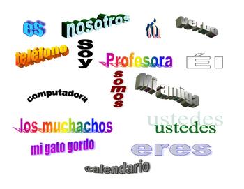 Spanish Grammar Wordsplash