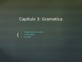 Spanish: Grammar powerpoint ar conjugations