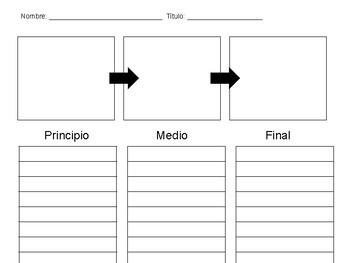 Spanish BME Graphic Organizer