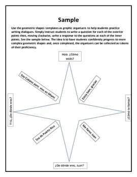 Spanish Graphic Organizer Bundle for Writing Questions and Responses