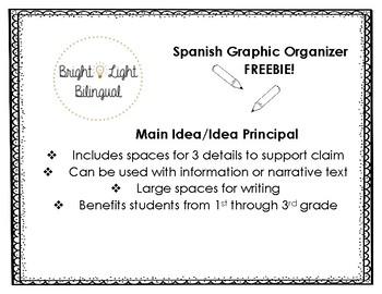Spanish Graphic Organizer - Main Idea