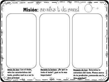 Informational Text Graphic Organizers in Spanish ( Common Core Aligned )