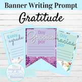 Spanish Writing Activity for All Levels | Gratitude Banner
