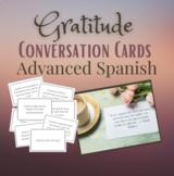 Spanish Gratitude Conversation Cards and Puzzle - Advanced