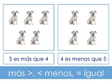 Spanish - Greater than, less than, equal to 10 sorting cards