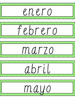 Spanish Green Chevron Birthday Board