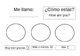 Spanish Greeting Worksheet for Younger Students - How are you? ¿Cómo estás?