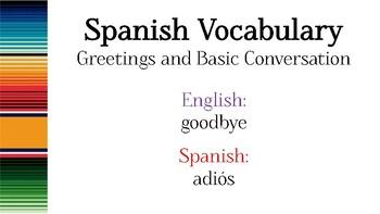 Spanish Greetings & Basic Conversation PowerPoint