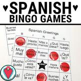 Spanish Greetings Bingo and Vocabulary Lists - Spanish 1